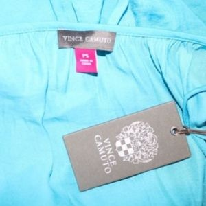 4dbd666a3a387 Vince Camuto Tops - Vince Camuto Turquoise Boho Cold Shoulder Top